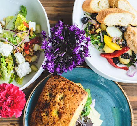 Salad and Sanwich